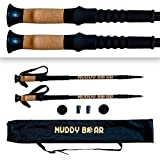 Ultra Lightweight Collapsible Trekking Poles with Cork Grip - Hiking Sticks - Stronger than Carbon Fiber - Best Hiking Poles - Adjustable Hiking Stick for Men and Women