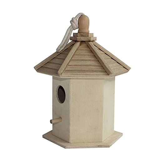 Y&Q Caja de cría de Madera de la casa del pájaro Nido de pájaro La ...