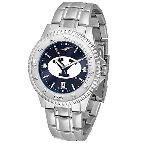 SunTime Brigham Young (BYU) Cougars Competitor AnoChrome Men's Watch with Steel Band