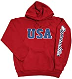 Snowflake Designs USA Red, White, Blue Gymnastics Sweatshirt in Red (Child Medium)