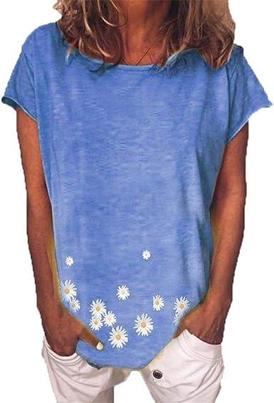 ZFQQ Summer 2020 Nueva Camiseta de Mujer de Manga Corta con ...