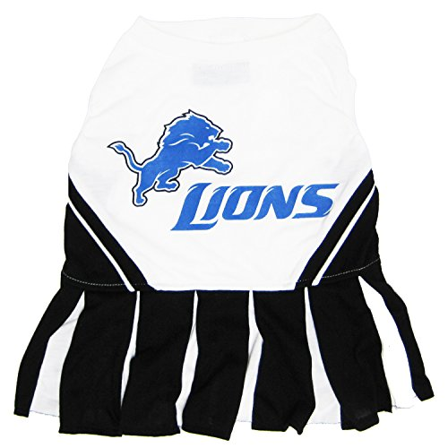 Detroit Lions NFL Cheerleader Dress For Dogs - Size -