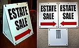 1-Set Prime Popular Estate Sale with Arrow Sign Sandwich Retail Notice Store Message Size 18'' x 24'' Board Color White