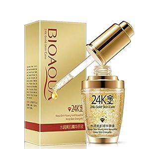 24k gold serum for glowing skin men women anti aging anti wrinkle skin care serums