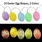 LEORX Easter Egg String Light 6.56ft with 20 LED