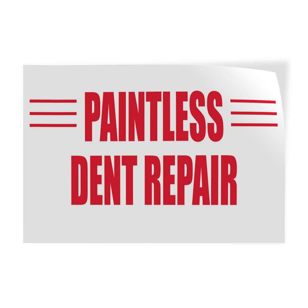 14inx10in Set of 10 Decal Sticker Multiple Sizes Paintless Dent Repair Business Business Paintless Dent Repair Outdoor Store Sign White