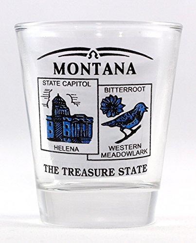 Glass Montana Shot (Montana State Scenery Blue New Shot Glass)