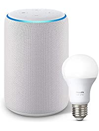 Echo Plus (2nd Gen) Bundle with Philips Hue Bulb - Sandstone