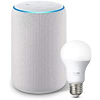 All-new Echo Plus (2nd Gen) Bundle with free Philips Hue Bulb - Sandstone