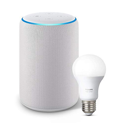 All-new Echo Plus (2nd Gen) Bundle with Philips Hue Bulb - Sandstone