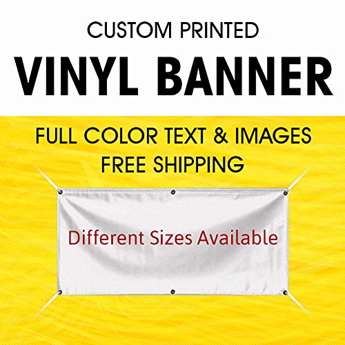 Custom Vinyl Business Banner Full Color Banner Company Vinyl Banner 2' X 6' - Indoor Outdoor with True Solvent Ink Signs and Grommets by BannerBuzz (Outdoor Banner Opening)