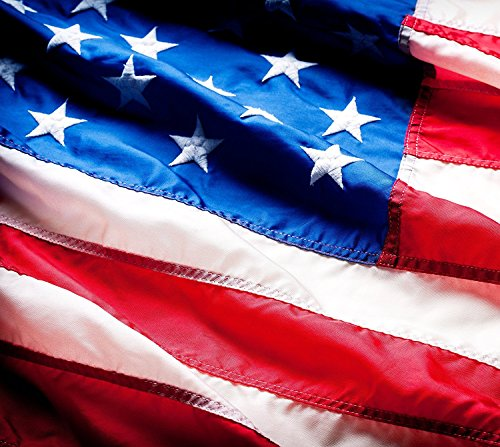 American Flag: 100% Premium HIGHEST QUALITY US Flag Made From Nylon - Embroidered Stars - Sewn Stripes - UV Protection Perfect for Outdoors! 3x5 ft USA (American Protection)