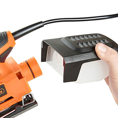 VonHaus 2.2 Amp 1/4 Sheet Palm Sander Kit with 15000 RPM, Fast Clamping System, Dust Collector and 5 Sandpaper Sheets - Ideal for Detailed Sanding by VonHaus (Image #5)