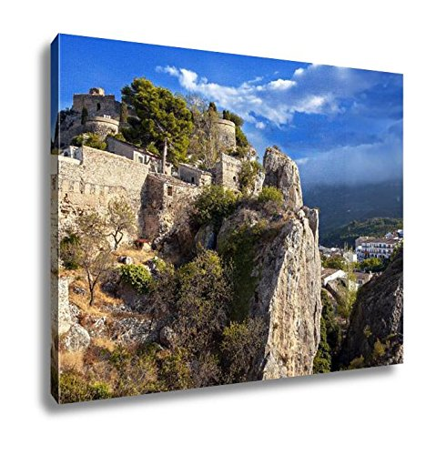 Ashley Canvas Remains Of The Ancient Fortress San Jose Castle In Guadalest Spain, Home Office, Ready to Hang, Color 20x25, AG6535063 by Ashley Canvas