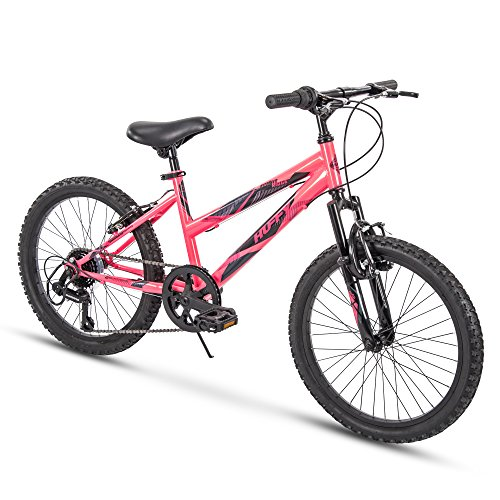 Huffy Kids Hardtail Mountain Bike for Girls, Summit Ridge 20 inch 6-Speed (Kids Bike 20 Girls)