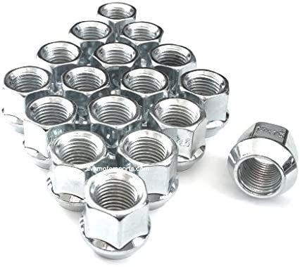 20 AVN Motorsports 14x1.5 Chrome O.E 14mmx1.50 Thread Size Bulge Acorn Open End Lug Nuts 3//4 Hex .84 Tall