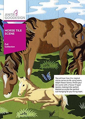 - Anita Goodesign Horse Tile Scene 317AGHD