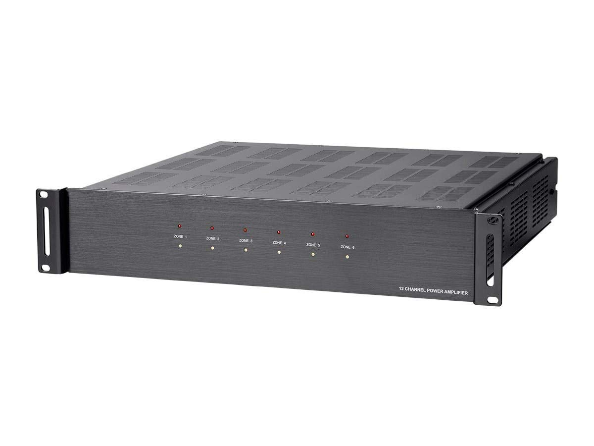 Monoprice 131028 6 Zone Home Audio Multizone - 12 Channel Amplifier with Rs232 and 70V and 4-Ohm Output