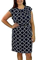 Charter Club Women's Sleeveless Dress 16 Intrepid Blue Combo