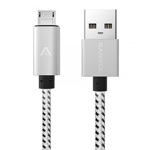 10 opinioni per Ganvol Cavo Micro USB In Nylon 2m- Cavo Antigroviglio per Trasmissione Dati e