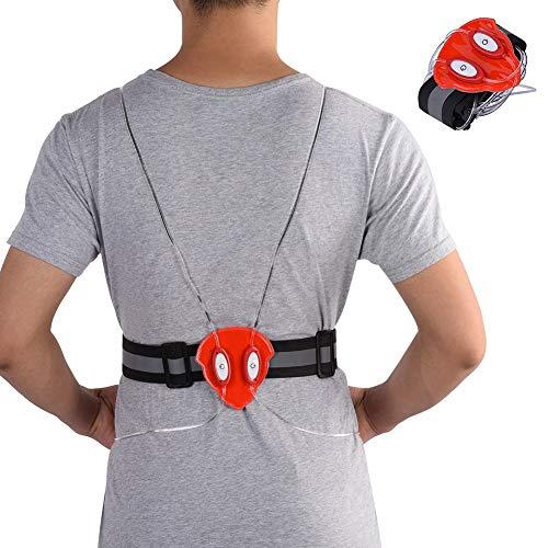LED Vest, Reflective Safety LED Vest Fiber Light Jacket for Night Outdoor Running Cycling(Red)