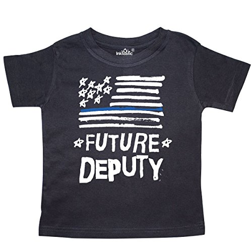 inktastic Sheriff Future Deputy Childs Gift Toddler T-Shirt 5/6 Black