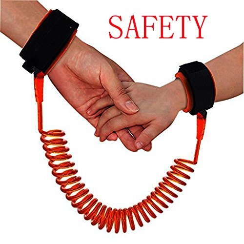 Best Review Of DREAMZE Baby Child Anti Lost Safety Velcro Wrist Link (2.5m Orange)