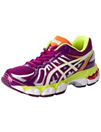 Asics - Kids Running Gel-Nimbus 15 Gs Shoes In Wine/Wht/Flsh Yellw