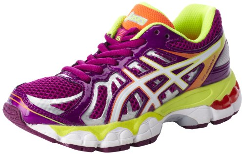 Price comparison product image ASICS Gel Nimbus 15 GS Running Shoe,Wine/White/Flash Yellow,3.5 M US Big Kid