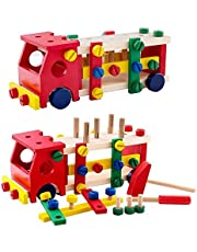 Reassembly Screw Car Wooden Toy Set
