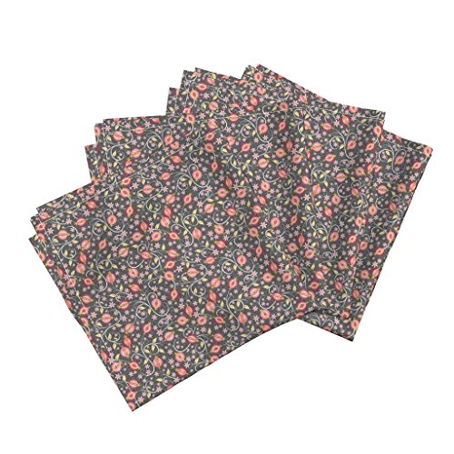 Roostery Pomegranate Organic Sateen Dinner Napkins A Jewel of A Fruit - Small by Inscribed Here Set of 4 Cotton Dinner Napkins Made
