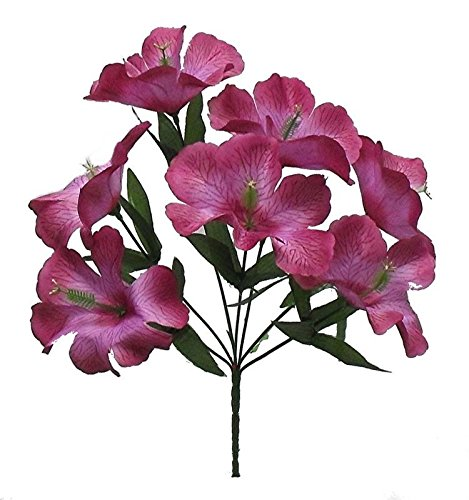 Artificial Garden 5 Hibiscus Pink Mauve Silk Flower Floral Arrangements Wedding Flowers Bridal Bouquets Centerpieces Decor
