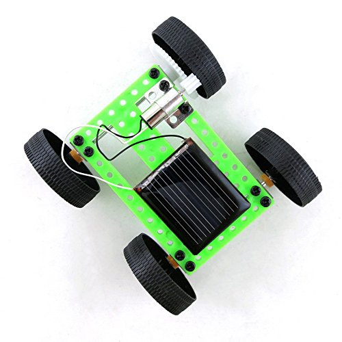 Newdiva Mini Solar Power Toy Car Racer - Plastic Engineering Car Gadget Trick Novelty Educational Toy for Kids - Gift for Birthday Children's Day Christmas for Kids Over 6 Years - Mini Solar Racer