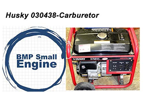 BMotorParts Carburetor for Husky 030438 3750 Watt Generator Briggs & Stratton Powered (Generator Husky)