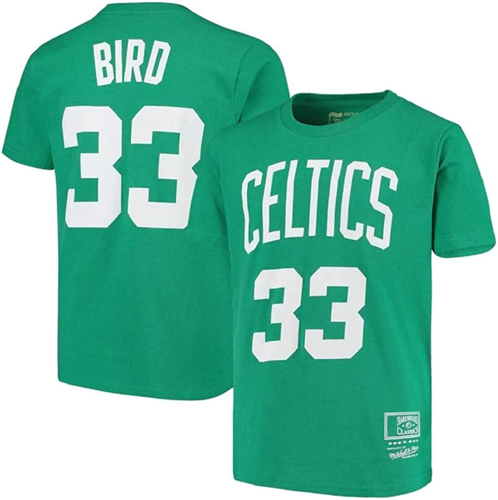 WZ Camiseta De Los Hombres De La Ropa De Baloncesto Boston Celtics # 33 Larry Bird Retro Cuello Redondo Jeysey, Fitness Sports Alero Superior Respirable, XL:175~180cm: Amazon.es: Ropa y accesorios