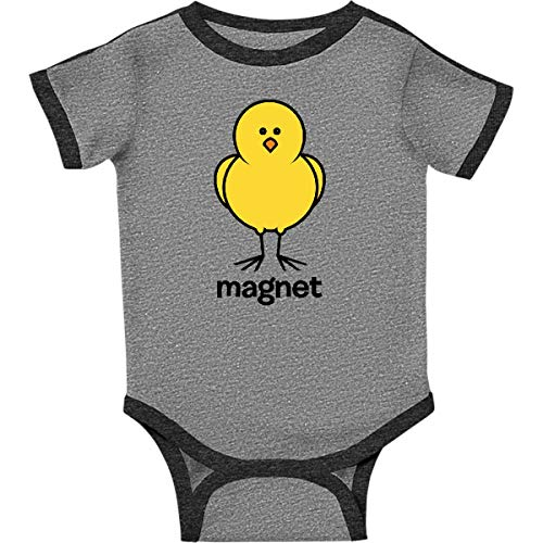 inktastic - Chick Magnet Infant Creeper 6 Months Ringer Heather and Smoke d0df
