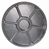 Durable Packaging Disposable Aluminum Round Lazy Susan Tray, 18'' (Pack of 50)