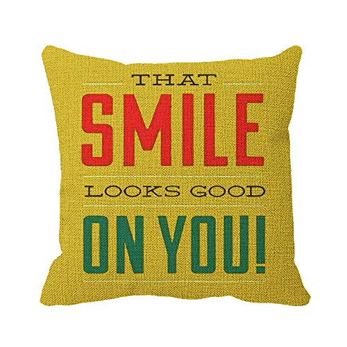 Julyou Good Morning Inspirational Quote Monday Linen Burlap Square Throw Pillow Covers 18 x 18