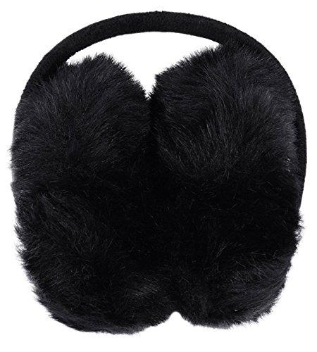 Simplicity Men Women Plush Winter Earmuffs for Outdoor Snowboarding, Black