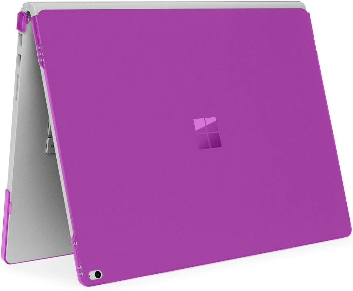 mCover Hard Shell Case for Microsoft Surface Book Computer 1 & 2 & 3 (15-inch Display, Purple)