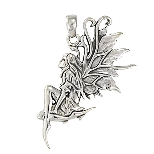 Sterling Silver Earth Fairy Pendant By Amy Brown