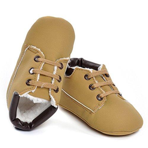 Estamico infantil niños 'high-top botas sintética zapatillas marrón marrón Talla:12-18 meses
