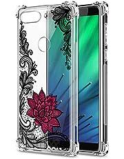 Oihxse Cristal Compatible con Xiaomi Redmi 5A Funda Transparente TPU Silicona Estuche Airbag Esquinas Anti-Choque Anti Rasguños Diseño Rosa Flower Caso (Flores B6)