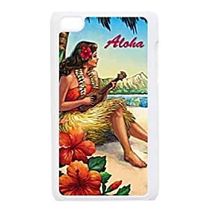 Personalized New Print Case for Ipod Touch 4, ALOHA Phone Case - HL-531854