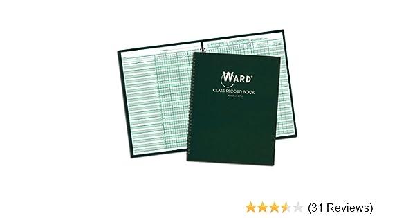 38 Students Ward 910L Class Record Book 11 x 8-1//2 Green 9-10 Week Grading