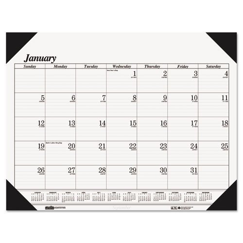 House of Doolittle Desk Pad, Compact, 12 Month, Jan-Dec, 18-1/2