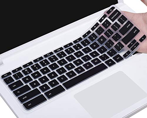 CaseBuy Keyboard Protector Skin Cover Compatible Acer Premium R11 / 11.6 Acer Chromebook 11 CB3-131 / Chromebook R 11 CB5-132T / 13.3 Chromebook R 13 CB5-312T (Black)