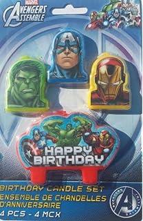 Amazon.com: Avengers Vela de cumpleaños (cada uno): Kitchen ...