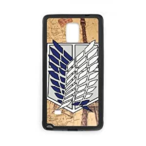 Unique Design Cases Uddme Samsung Galaxy Note 4 N9108 Cell Phone Case Attack on Titan Printed Cover Protector