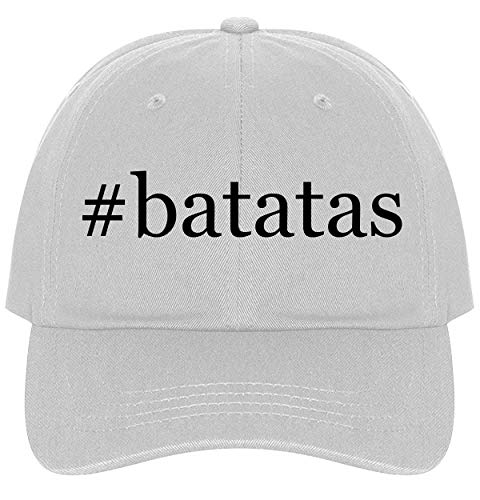 The Town Butler #Batatas - A Nice Comfortable Adjustable Hashtag Dad Hat Cap, White, One Size